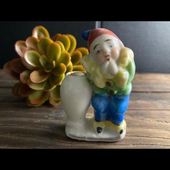 "Occupied Japan Midcentury Pico Clown Bud Vase 2.5"""